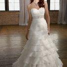 A-line Sweetheart Beading Organza 2012 Wedding Dress