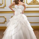 Sweetheart Strapless Organza Ball Gown 2012 Wedding Dress