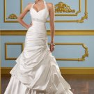 Halter Corset Drop Waist With Inner Petticoat 2012 Wedding Dress