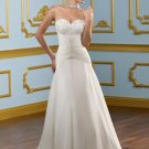 A-line Sweetheart Beading Applique Strapless Lace-up 2012 Wedding Dress