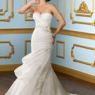 Mermaid Corset Beading Organza 2012 Wedding Dress