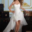 Short Front Long Back Organza 2012 Wedding Dress