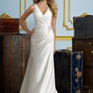 Sheath V-neck 2012 Wedding Dress