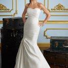 Drop Waist Strapless Mermaid 2012 Wedding Dress