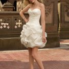 Pick-up Organza Satin Short 2012 Wedding Dress