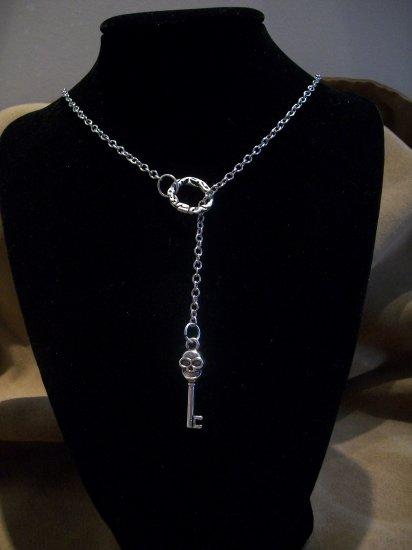 Skull Key Pendant Necklace