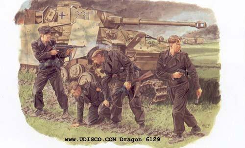 Dragon 1/35 German Survivors Panzer Crew 6129