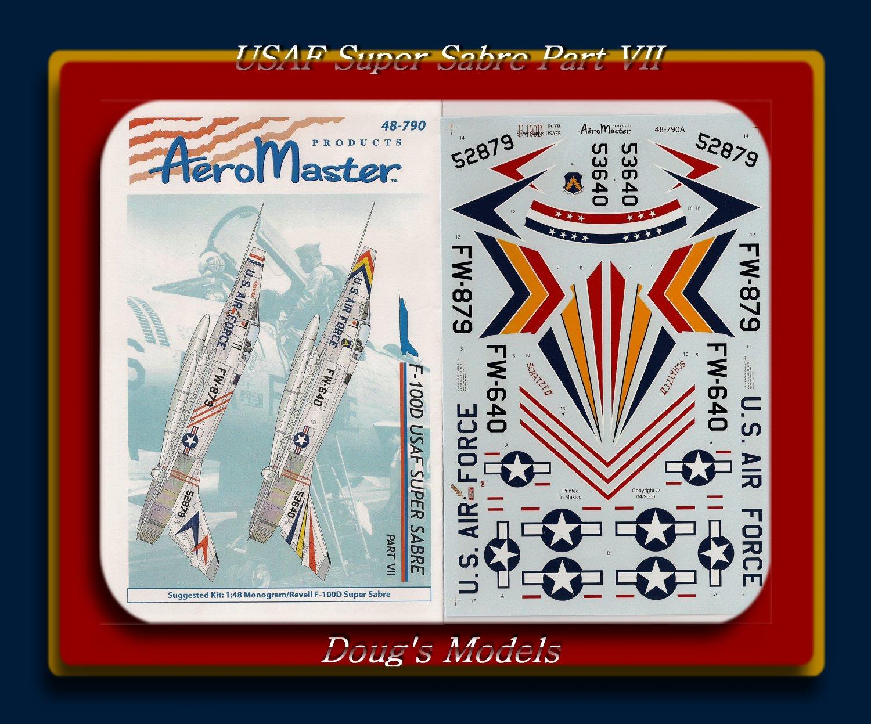 Aeromaster 1/48 F-100D USAF Super Sabre Pt. VII