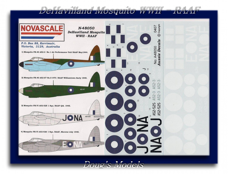 Novascale 1/48 DeHavilland Mosquito WWII RAAF