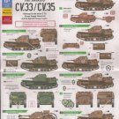 Bison Decals 1/35 Spanish Civil War Fiat Ansaldo CV.33/CV.35 35121