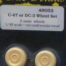 True Details 1/48 C-47 or DC-3 Wheel Set 48052