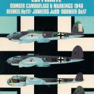 Osprey Aircam Aviation Series Luftwaffe Bomber Camouflage & Markings 1940 No. S10