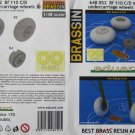 Eduard 1/48 Bf 110 C/D Main Undercarriage Wheels Brassin 648 052