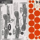 Dutch Decals 1/48 Bristol Fighter Nieuport Type 21/23 WWI 48021