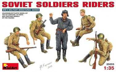Miniart 1/35 Soviet Soldiers Riders 35055