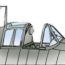 Squadron 1/48 Grumman F6F-3 & 5 Hellcat Crystal Canopy 9614