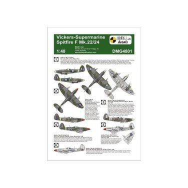 Mark I Decals 1/48 Vickers-Supermarine Spitfire F Mk. 22/24 4801