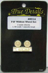 True Details 1/48 F4F Wildcat Wheel Set Smooth Thread 48014