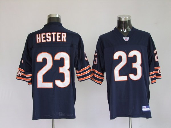 Authentic #23 Devin Hester Chicago Bears Jersey - Navy Blue - XL