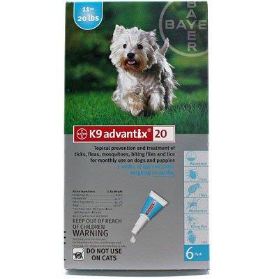 K9 Advantix Topical Flea & Tick Medication Teal 6 Month Supply - Dogs 11-20 Lbs