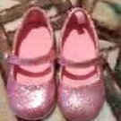 GYMBOREE NEW PINK GLITTER SHOES SIZE TODDLER 6