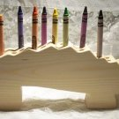 Alligator Crayon Holder, Wood, Unpainted for DIY projects or All Natural families