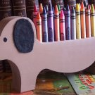 Dachshund Dog Crayon Holder, Wood, Hand painted