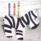 Zebra Crayon/Pencil Holder, Wood, Hand painted