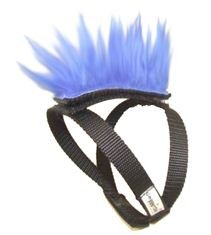 Blue Mohawk Top and Base Strap (brwn/wht/blk) Pet Clothing Dog Hair