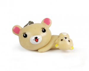 3D Resin Rilakkuma Bear Cell Phone Charm, Qty 1
