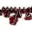 Czech Glass Beads, 6x8mm, Black Cherry Bell Flower , Qty: 20