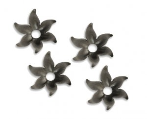 12mm, Vintaj Arte Metal Fairy Petals Bead Caps, Qty 4
