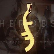 "Heroes Helix Symbol ""Godsend"" Titanium Necklace"