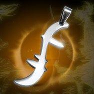 "Heroes Hiro Helix Symbol ""Godsend"" Titanium Necklace"
