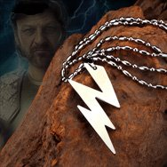 Greek Gods Zeus Lighting Bolt Titanium Necklace