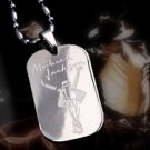 Micheal Jackson Signature Dogtag Necklace