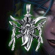 World of Warcraft Night Elf Platinum Necklace WOW