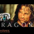 LORD OF THE RINGS Aragorn Silver Costume Ring of Barahir LOTR Size 10 BH090