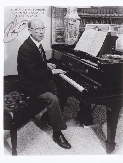 Vintage Photo with autograph of Sammy Cahn wiith COA