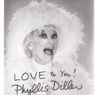 Vintage Photo with autograph of Phyllis Diller with COA