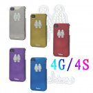 100 x Protect back cover for iPhone 4 4s in electro-plating diamond effects-7th  log wholesales