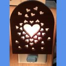 Hearts Laser Redwood Nighlight Handcrafted #1213