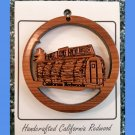 One Log House Laser Cut Handcrafted Ornament Redwood #3414L HWP