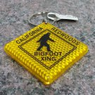 Bigfoot Crossing Lucite Keychain #1704