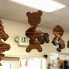 Natural Redwood Bear Wind Spinner #2391