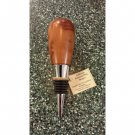 Hand Turned Smooth Edge Redwood Wine Stopper #1006