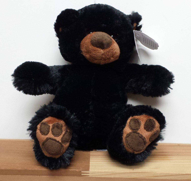 """Pawee Black Bear 8"""" Stuffed Animal #637351422085"""