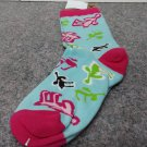 Retro Moose Crew Socks Size 9-11 #840650241329 LO