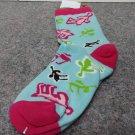 Retro Moose Crew Socks Size 9-11 #840650241329 LO
