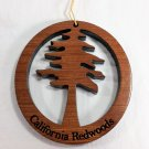 Redwood Tree Ornament Handcrafted Redwood #1066L HWP